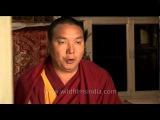 Lama Tashi singing his unique multi-phonic chant