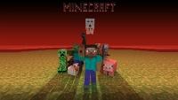 minecraft, мобы, крипер, змея, зомби, цыпленок, свинья, майнкрафт, человек, пиксели.