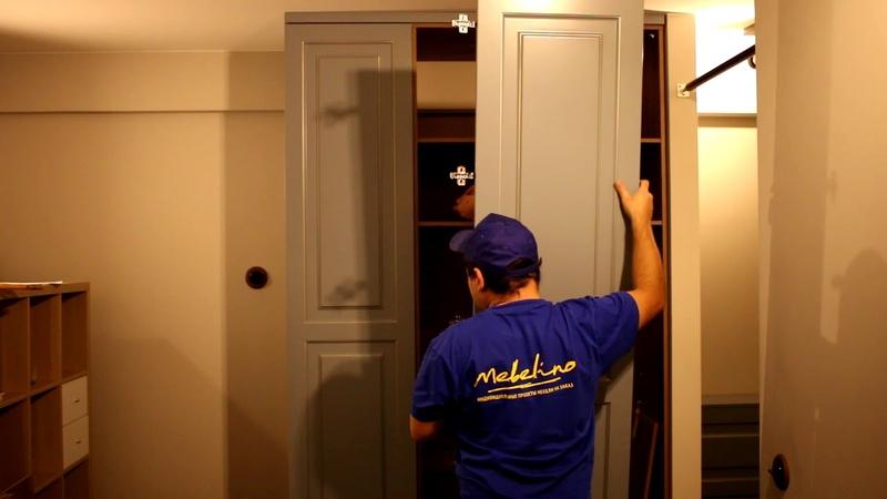 Сборка распашного шкафа из МДФ эмали от компании Mebelino