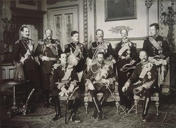 9 европейских королей на одном снимке, май 1910 года.