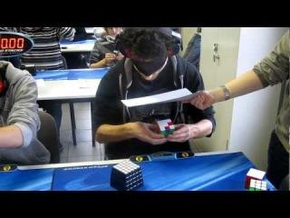 Marcell Endrey за 28.80 секунд собрал куби-рубик с закрытыми глазами