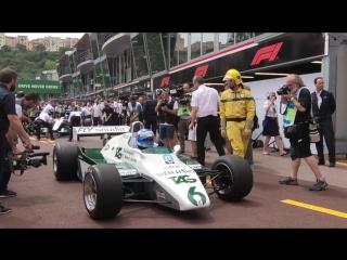 Williams Heritage: Keke and Nico Rosberg reunited