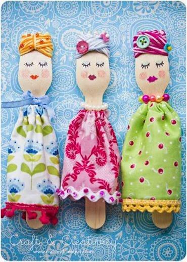 Ложки для кукол своими руками