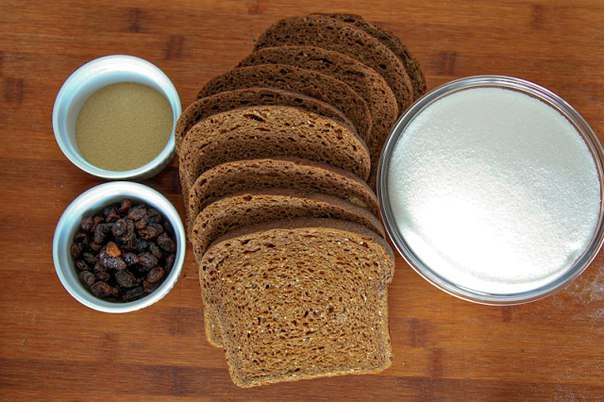 Домашний хлебный квас Ингредиенты: Вода — 11 Литр Ржаной хлеб