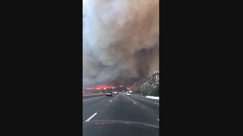 Мама, уже огонь на дороге - Пожар в Калифорнии