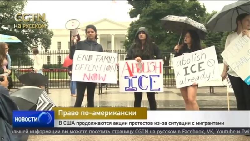 В США продолжаются акции протестов из-за ситуации с мигрантами