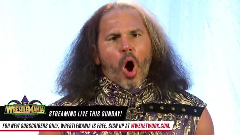 Woken Matt Hardy reacts to Goldusts WrestleMania announcement Raw April 2 20