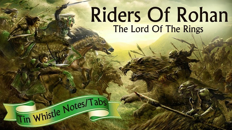 How To Play - ROHAN THEME - LORD OF THE RINGS - Tin Whistle Notes/ Tabs