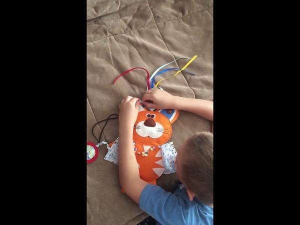 Развивающая игрушка, рыжий котик на заказ для девочки