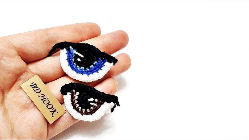 Amigurumi Bebek Göz Örülüşü|How To Crochet Eyes For Your Amigurumi|амигуруми