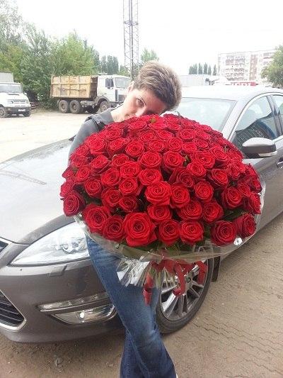 201 роза фото с девушкой