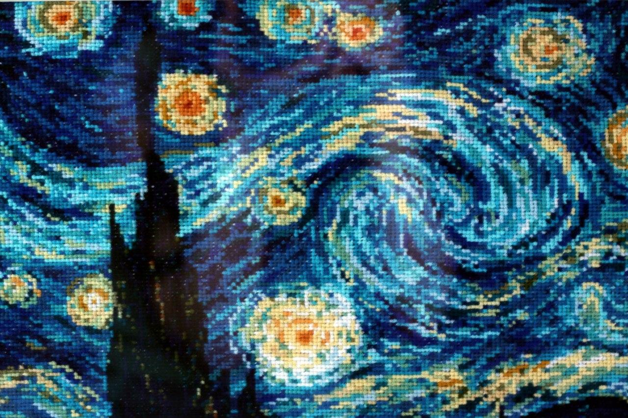 1088 Ван Гог «Звёздная ночь - Мир Вышивки 71