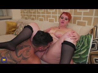 [mature.eu] katrin porto - toyboy sucking on big tits and giving a creampie [big tits, blowjob, cum, creampie, toy boy, licking,