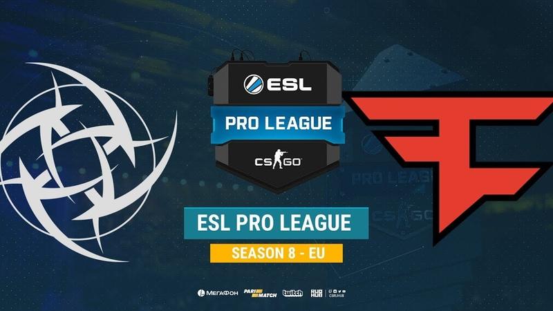 NiP vs FaZe - ESL Pro League S8 EU - bo1 - de_mirage [Mintgod, Gromjke]