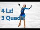 Alexandra Trusova FS - 3 QUADS and QUAD LUTZ - Novogorsk Junior Test skates 2018-19