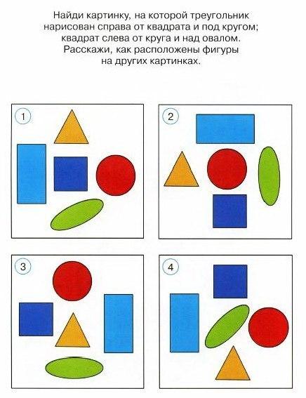 Упражнения на развитие пространственной ориентации