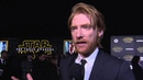 """Star Wars - The Force Awakens: Domhnall Gleeson """"General Hux"""" Red Carpet Interview"""