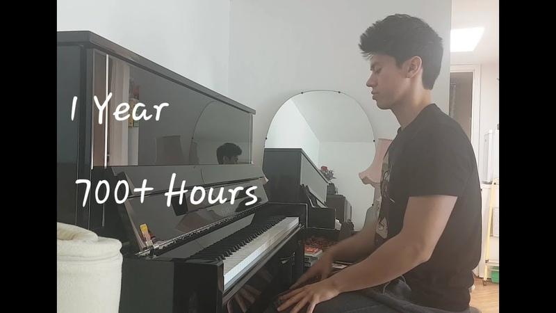 1 год обучения игре на фортепиано, видео прогресса с самого начала. Adult Beginner Piano Progress - 1 Year of Practice