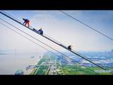 Китайцам все равно где ставить рекорды Строительство самого длинного двухэтажного моста