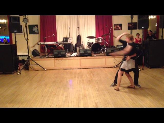 Contemporary Blues Dance Routine-- Joe DeMers Julie Brown