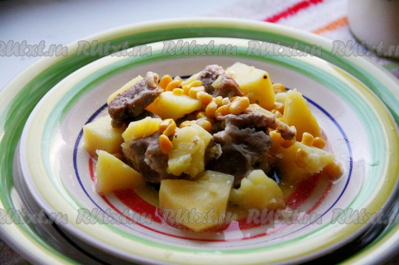 Тушеная картошка казане рецепт с фото
