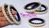 How To Make Designer Slik Thread Pearl Bangles DIY Fancy Side Bangles Uppunutihome
