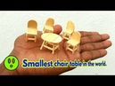 The smallest chair and table in the world matchstick chair and table popsicle dining table