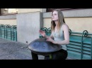 Great Street Music in Prague. The Hang Instrument Steel Pan. Old Town Square
