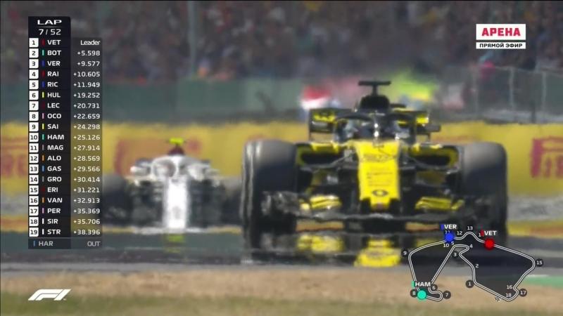 Формула 1. 2018. 10/21. Гран-при Великобритании. Гонка (08.07.2018) HD 720 50 fps смотреть онлайн бесплатно в хорошем качестве