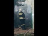У нас возле школы пожар.
