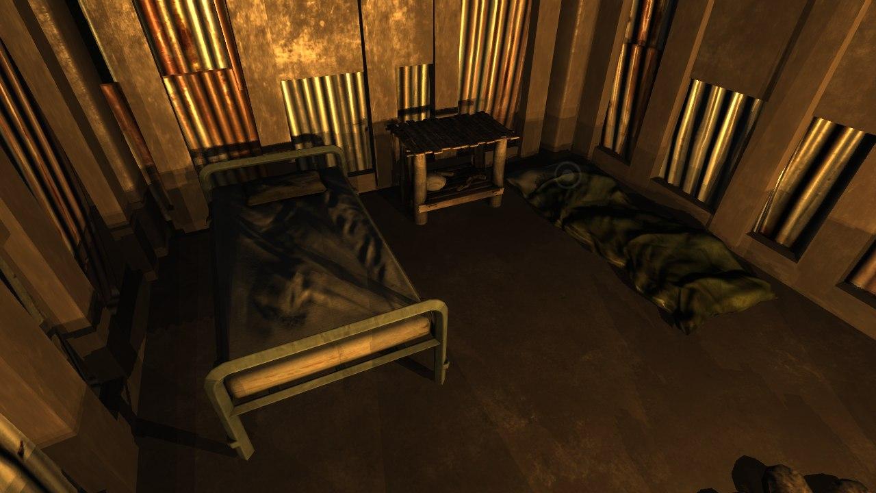 Кровать и спальный мешок в игре Rust