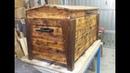 🔨Baule Cassa fatta con riciclo pedane bancali fai da te homemade (DIY trunk pallet recycling)