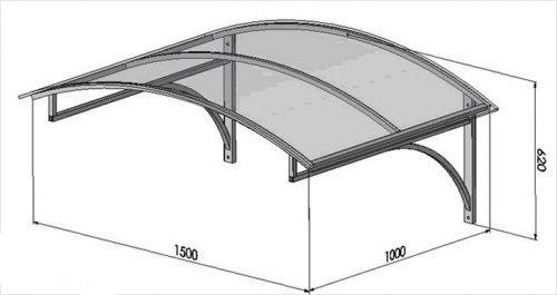 Козырек над крыльцом из поликарбоната: инструкция по изготовлению.