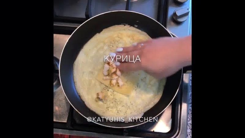 Завтрак • Яичный блинчик Белковый взрыв