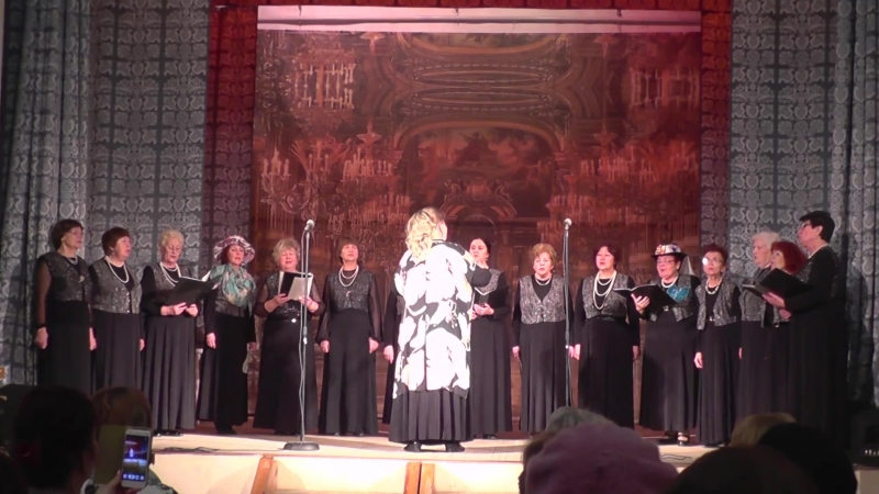 Песня Есенинские вечера Академический любительский хор Ретро Приокского ДК г Рязань
