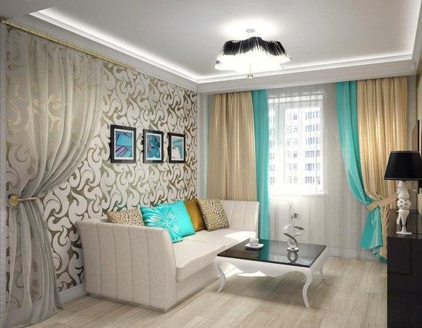 Дизайн однокомнатной квартиры в стиле ар-деко