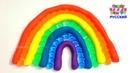 Учим цвета с Play Doh и Orbeez Делаем РАДУГУ из цветных шариков Орбиз и Плей до для детей