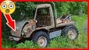 Wow! Abandoned trucks Mercedes Unimog. Abandoned rusty vehicles