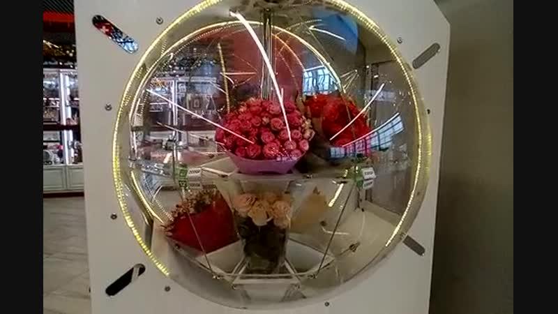 Автомат по продаже цветов в Аэропорту Храброво 20190108 100957