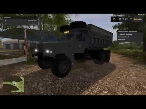 Мод грузовик КрАЗ 256 v3.0 Фермер Симулятор 2017