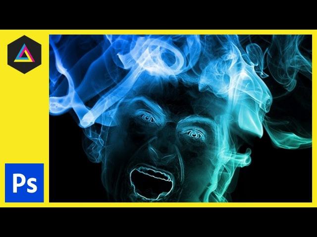 Smoke Portrait Effect   Adobe Photoshop Tutorial\\kh