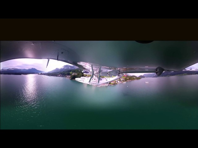 360 Degree Camera under the wing of a Hydroplane