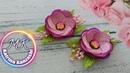 Миниатюрные цветочки из атласной ленты /Flores em miniatura de fita de cetim.
