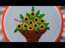 Hand Embroidery: Sunflower Basket | Bordados a mano: Cesta de Girasoles | Artesd'Olga