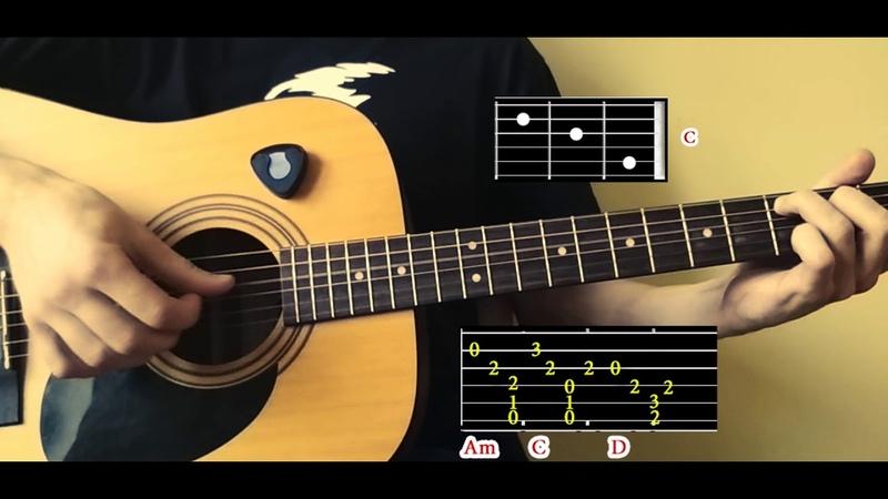 Как играть Johnny Cash - Hurt на гитаре (АККОРДЫ ТАБЫ и схема боя) OST Logan/ Логан