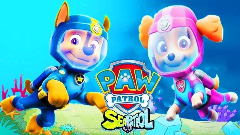 Щенячий Патруль Морской Патруль Игра как Мультик Paw Patrol Game Cartoon