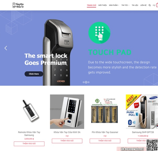 Web bán khóa từ thumbnail