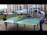 Второй день пляжного тенниса в Кингисеппе у друзей Андрюши. 2014 год