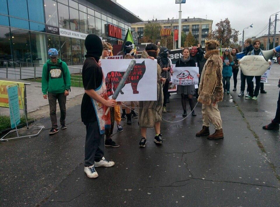 Харьковчане протестуют в защиту животных
