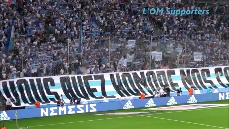 Les Tifos du 12e hOMme OM vs Amiens.